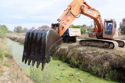 Finalizó la limpieza de 23 kilómetros de canales