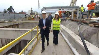 Mauricio Macri puso en marcha la tuneladora para soterrar el Sarmiento: