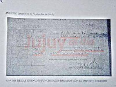 EXCLUSIVO: éste es el recibo por casi 900 mil pesos pagados por el marido de Milagro Sala