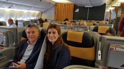 Mauricio Macri parti� hacia Roma: audiencia con el Papa y foto con Juliana Awada