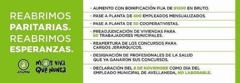 El Intendente Ferraresi reabrió las paritarias en Avellaneda con importantes anuncios