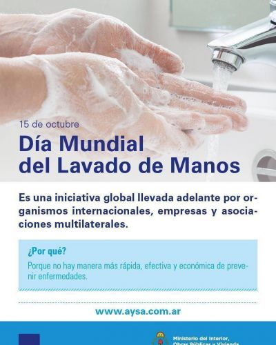 AySA celebra el Día Mundial del Lavado de Manos