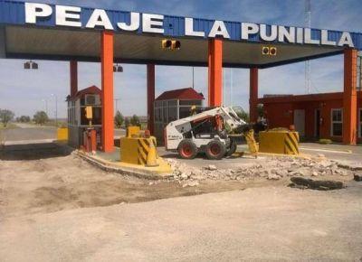 Comenzaron las obras en el peaje de La Punilla
