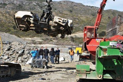 Municipalidad, Gobierno y Aduana coordinan la disposición final de material chatarra