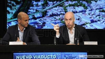 Larreta y Dietrich presentaron el proyecto para el viaducto del tren San Martín