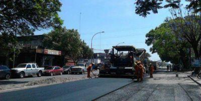 La repavimentación de avenida Juan B. Justo avanzó hasta España y México