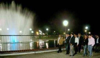 El intendente Alfaro habilitó las obras realizadas en el parque