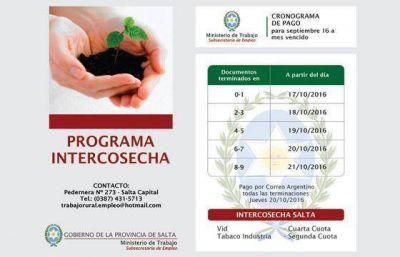 Comienza el pago a beneficiarios del programa Intercosecha
