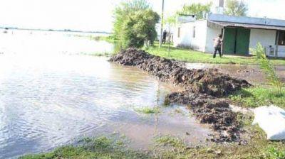 Ojeda: hay evacuados por las inundaciones