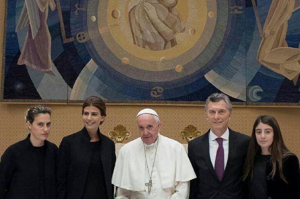 """""""¡Fuerza y para adelante!"""", el mensaje del Papa a Macri"""