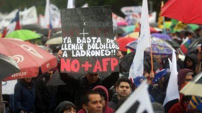 Otra marcha en Chile contra las jubilaciones privadas