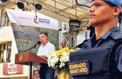 Santos anunció un plan de desminado