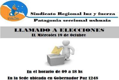 Elecciones en Luz y Fuerza Regional Patagonia