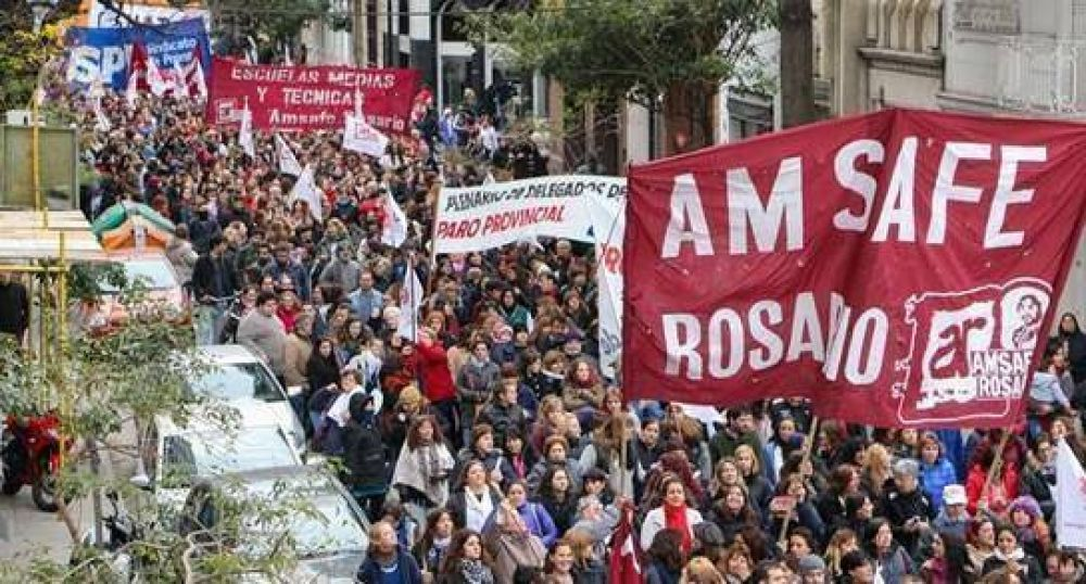 Amsafé Rosario en contra del Operativo Aprender