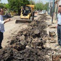Katopodis recorri� nuevas obras de saneamiento en el �rea Reconquista