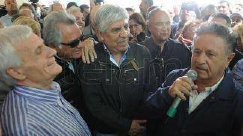 Con la presencia de Duhalde y Moyano, la CGT record� en San Vicente el 17 de octubre