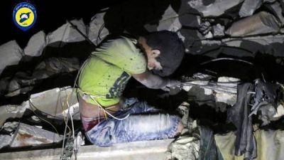 Los bombardeos en Aleppo siguen matando chicos