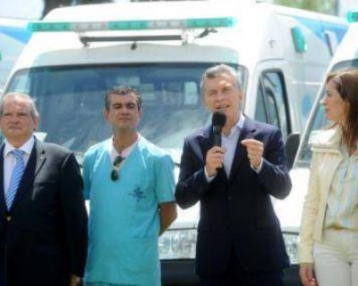 Una de las 40 ambulancias que Macri entreg� a Vidal es para San Pedro