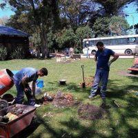 Mejoran bases de hormig�n en las farolas de espacios p�blicos de Mar de Cobo