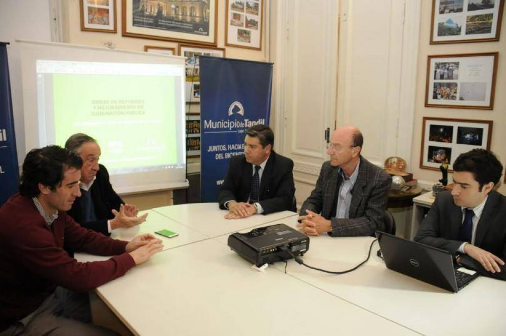 El Municipio y la Usina anunciaron un plan para mejorar la iluminación pública en distintas zonas