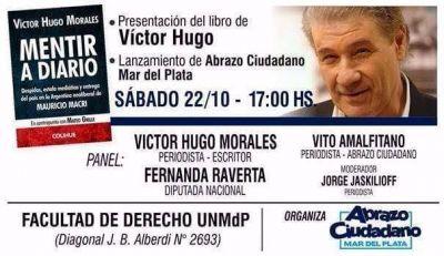 """Víctor Hugo Morales llega a Mar del Plata para presentar su libro """"Mentir a Diario"""""""