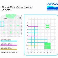 ABSA informa que comenz� un �hist�rico recambio� de ca�er�as en La Plata