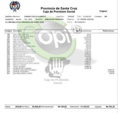 Jubilados provinciales: Carlos Zannini cobra 85 mil pesos en mano y Mario Metaza más de 30 mil pesos