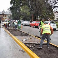 Limpian y recuperan espacios en el Centro C�vico y el Puerto San Carlos