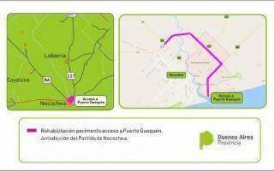 Licitaron obras en el acceso al puerto Quequ�n y camino vecinal de Pergamino