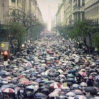 La lluvia no impidi� la manifestaci�n contra la Violencia de G�nero, en Trenque Lauquen