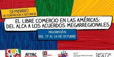 CLATE abrió la inscripción al seminario de formación sobre la amenaza del libre comercio