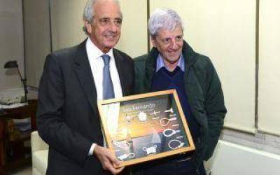 Intendente Andreotti recibió a Juan Carr y a Rodolfo D'Onofrio