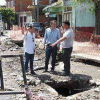 Katopodis supervis� nuevas obras hidr�ulicas en Barrio Independencia