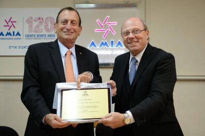 Visitó la AMIA el alcalde de la ciudad de Tel Aviv