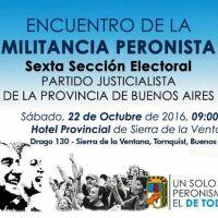 Encuentro peronista de la Sexta en Sierra: asistir�n referentes de Dorrego