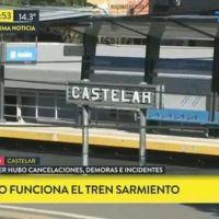Tras los incidentes de anoche, no funciona el ferrocarril Sarmiento