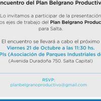 Presentar�n los ejes de trabajo del Plan Belgrano Productivo