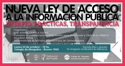 Charla sobre la Nueva ley de acceso a la información pública