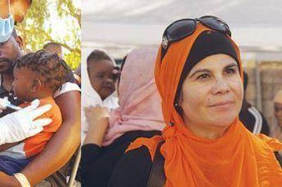 Musulmanas latinas ayudan a los refugiados haitianos y africanos