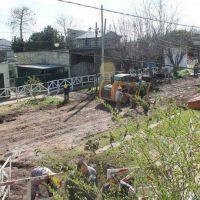 Cloacas: avanza la obra en la zona Este