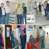 Rosario De Lerma: El intendente Jars�n entreg� camas al Hospital del Municipio