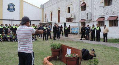 Se realizó una jornada de entrenamiento policial para aspirantes