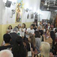 Entronizaron la imagen de Mama Antula en la iglesia La Merced