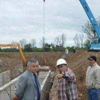 Infante supervis� el avance de la obra de desag�e del sector sur de la ciudad