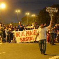 Mendiolaza protesta contra el peaje