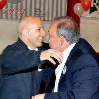 El abrazo entre Z�ccaro y Ducot�