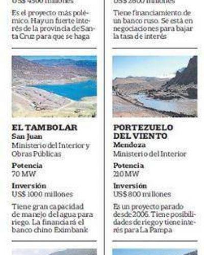 El Gobierno intenta revivir seis proyectos de represas en el país