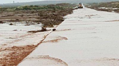Cuatro rutas permanecen cortadas en el interior de la provincia