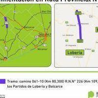 Repavimentan ruta 227 entre Lober�a y Balcarce