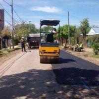 En Matheu, la Municipalidad contin�a con los trabajos de bacheo y limpieza integral de calles y espacios p�blicos
